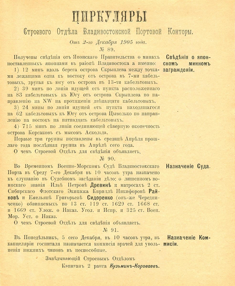 От 2-го декабря 1905 года