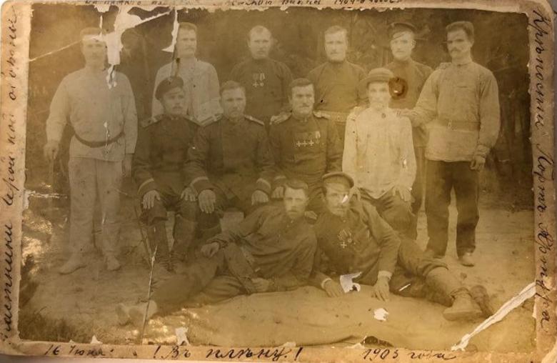 Групповое фото участников обороны Порт-Артура